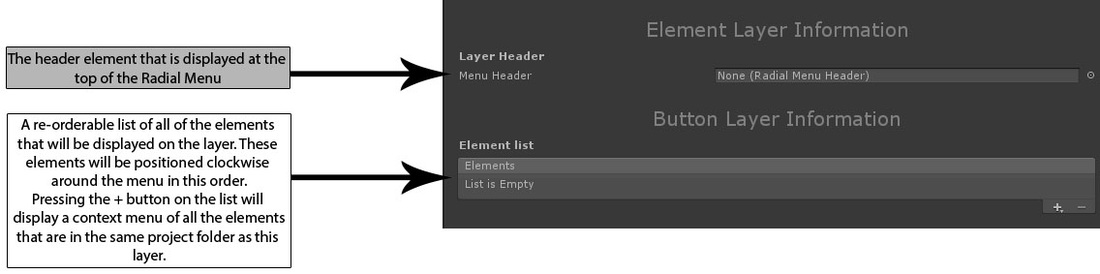 Radial Menu Button Layer Guide
