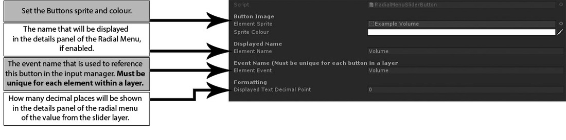 Radial Menu Slider Element Guide