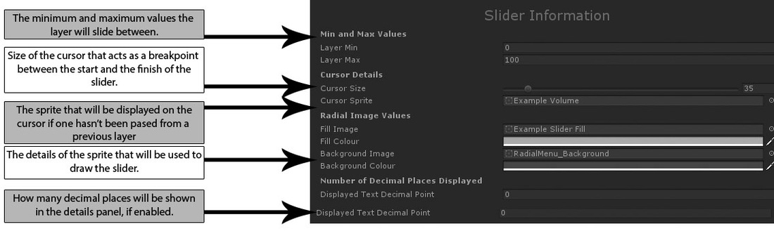 Radial Menu Slider Layer Guide